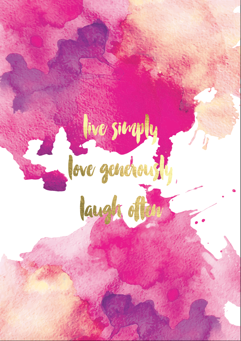 live simply love generously laugh often print by etch and co