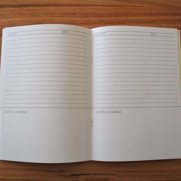 List and Scribble A5 Notebook
