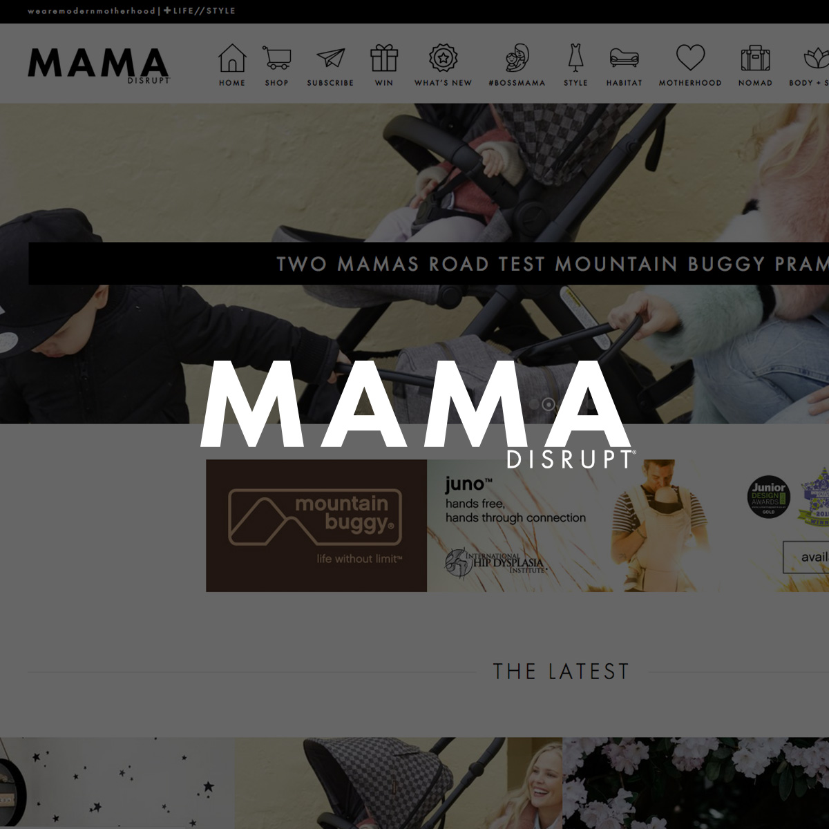 mama disrupt website design and development